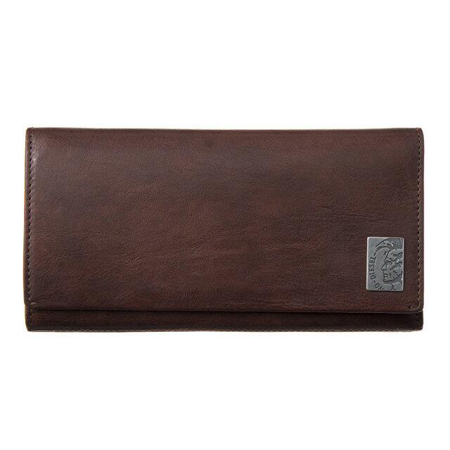 ディーゼル DIESEL 財布 X04984 PR013 T2189 フラップ長財布 ブラウン系+ブラック