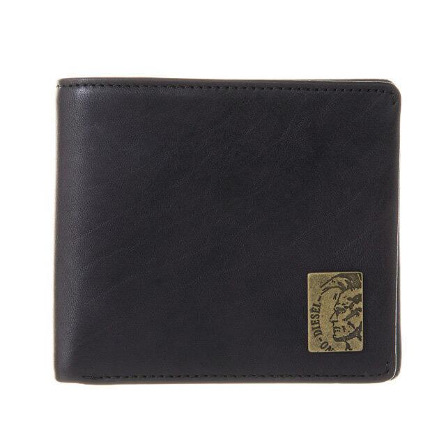 ディーゼル DIESEL 財布 X04996 PR013 T8013 小銭入れ付き 二つ折り財布 BLACK ブラック