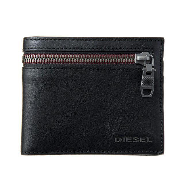 ディーゼル DIESEL 財布 X05041 P0503 T8013 小銭入れ付き 二つ折り財布 BLACK ブラック