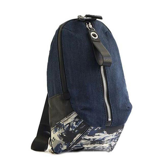 ディーゼル DIESEL X05190 P1530 H6562 D-RUBBER MONO 斜めがけショルダーバッグ ボディバッグ BLUE INDIGO DENIM/BLUE CAMOUFLAGE ブルーデニム系+ブルー系カモフラ柄+ブラック+レッド