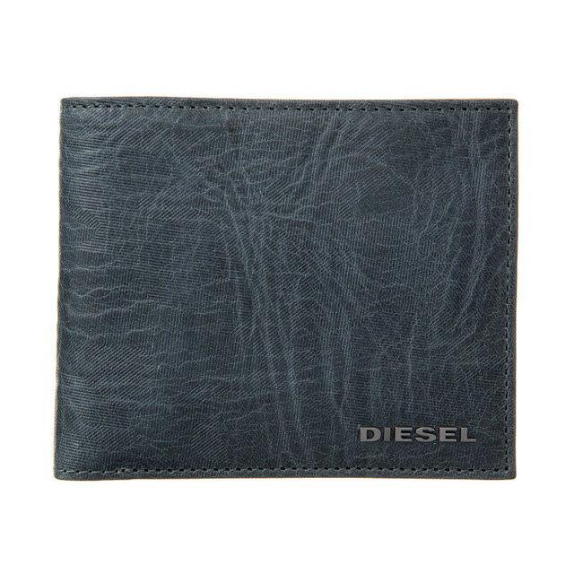 ディーゼル DIESEL 財布 X05351 P1683 H6712 小銭入れ付き 二つ折り財布 LEGION BLUE-BUTTERUM ダークブルー系迷彩柄+キャメルベージュ系