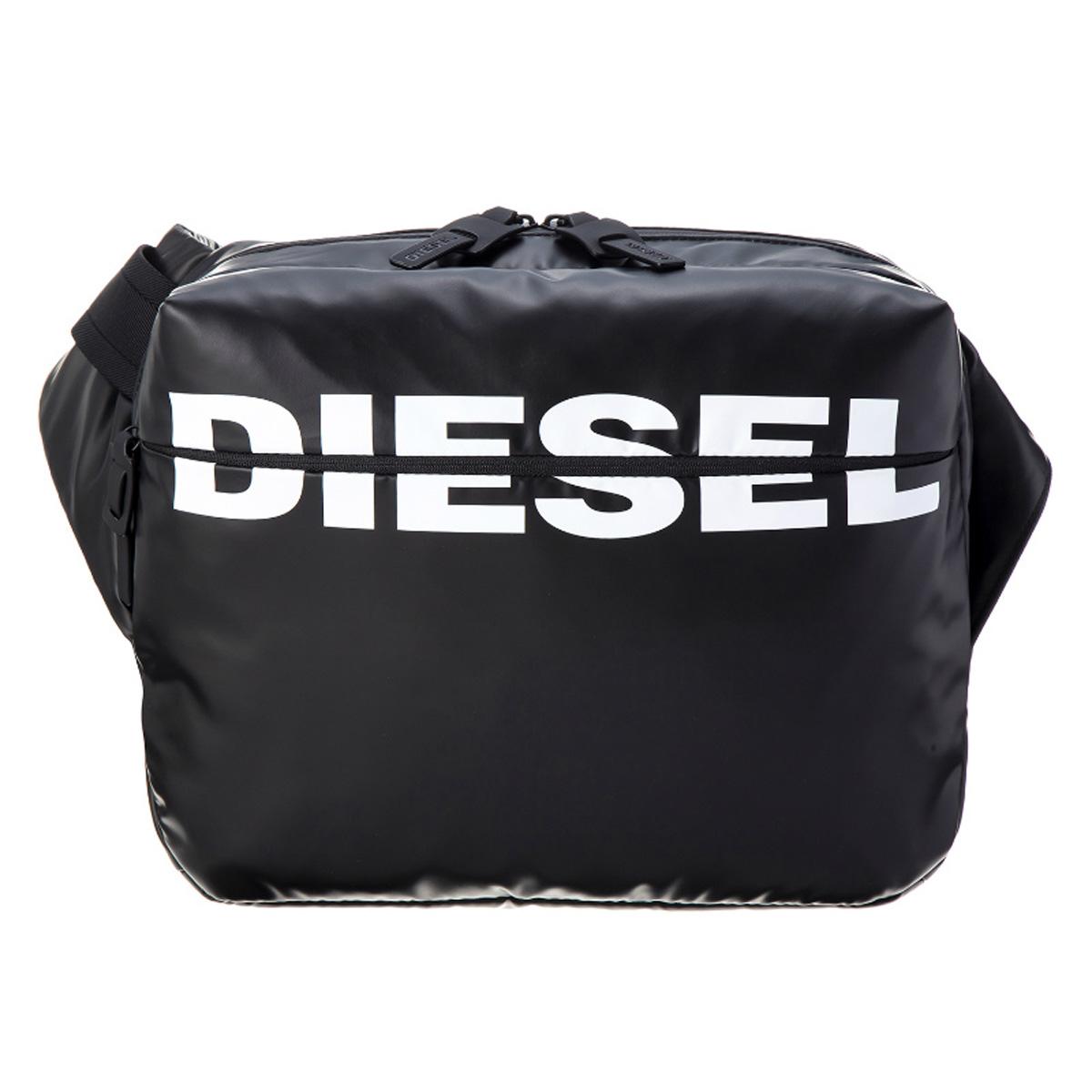 ディーゼル DIESEL バッグ X05476 P1705 T8013 F-BOLD CROSS 斜めがけバッグ ショルダーバッグ ワンショルダー ボディバッグ BLACK ブラック