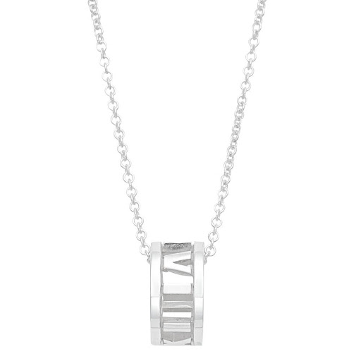 ff40d7f42 A Tiffany TIFFANY&CO 37958042 atlas opening pendant long sterling silver  925 number necklace lady's ...