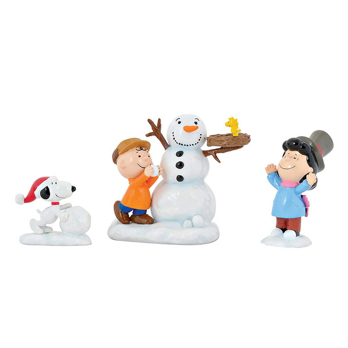 Department 56 デパートメント56 フィギュア スヌーピー スノーマン セット 4057052 クリスマス 置物 飾り ディスプレイ インテリア 雑貨 プレゼント ギフト 雪だるま