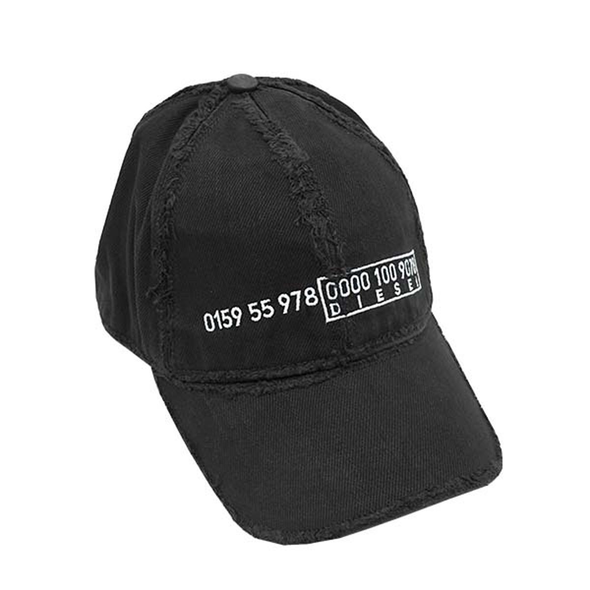 ディーゼル DIESEL キャップ 00S6RY 0DAXM 900 CIREVERSE CAPPELLO ベースボールキャップ 帽子 BLACK ブラック