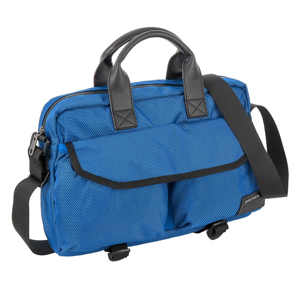 ディーゼル DIESEL バッグ X04012 PR027 T6084 2way ビジネスバッグ 斜めがけバッグ ブリーフバッグ BLUE ブルー+ブラック