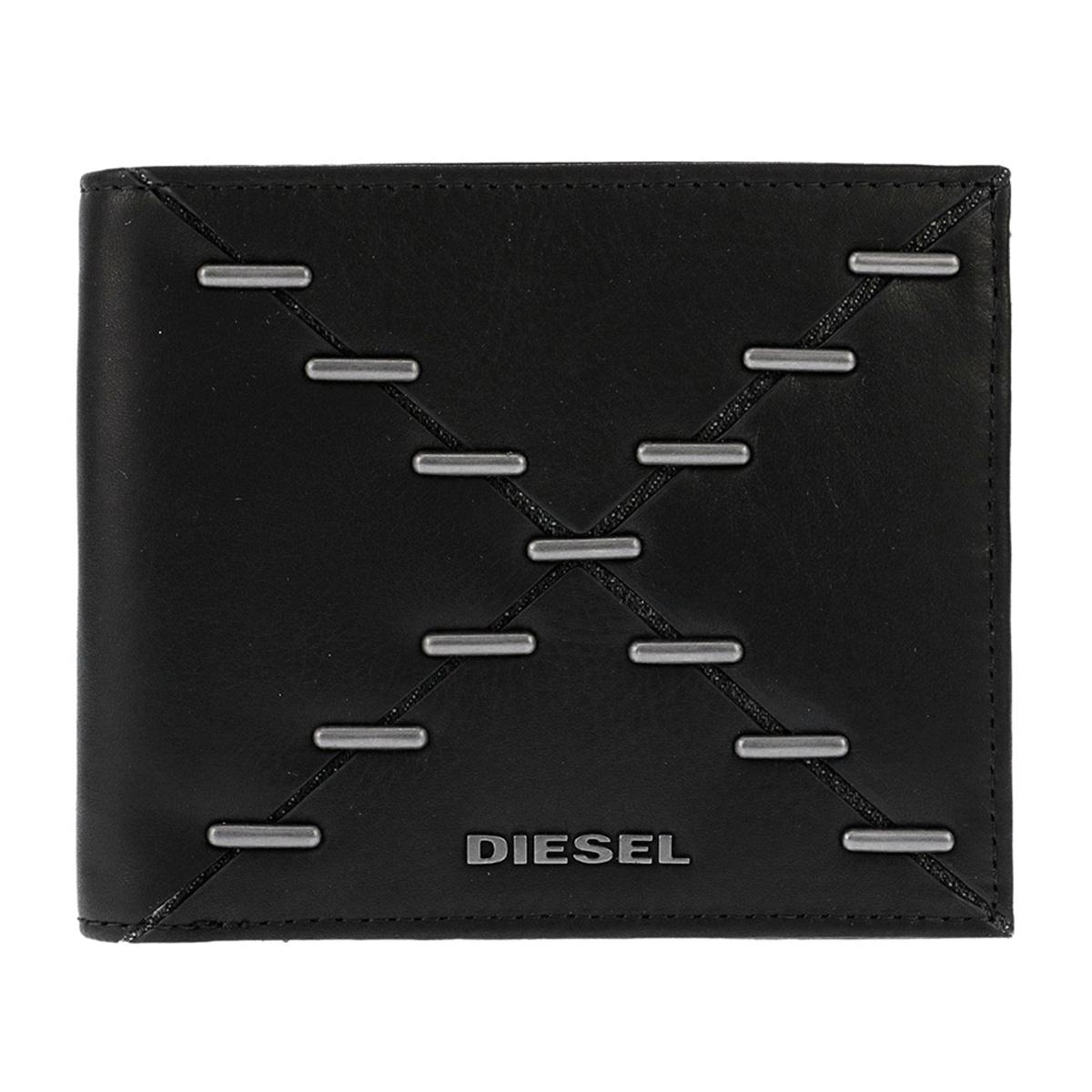 ディーゼル DIESEL 財布 X04121 PS778 H1669 小銭入れ無し 二つ折り財布 BLACK ブラック