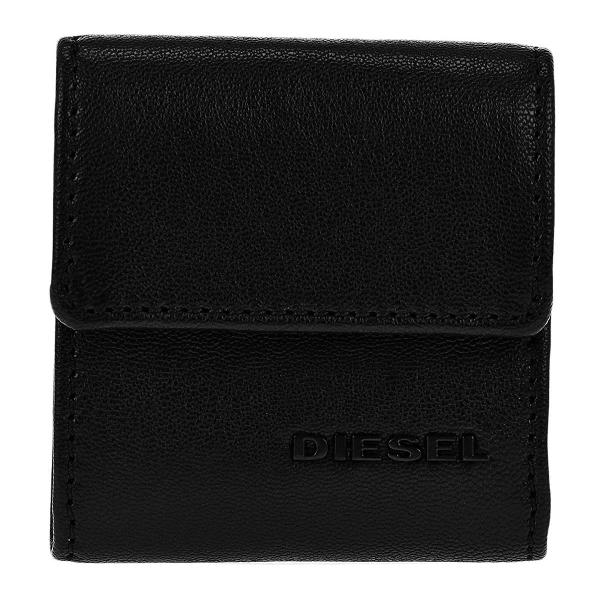ディーゼル DIESEL 財布 X04767 PR227 H3350 コインケース 小銭入れ BLACK/YELLOW ブラック+イエロー