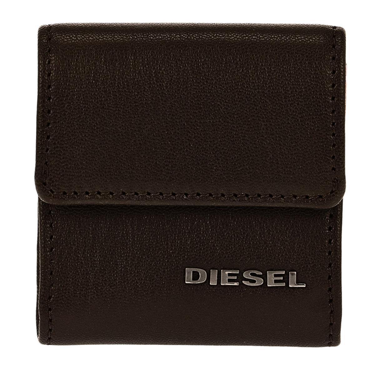 ディーゼル DIESEL 財布 X04767 PR227 H6385 コインケース 小銭入れ COFFEE BEAN/NECTARINE ダークブラウン+オレンジ
