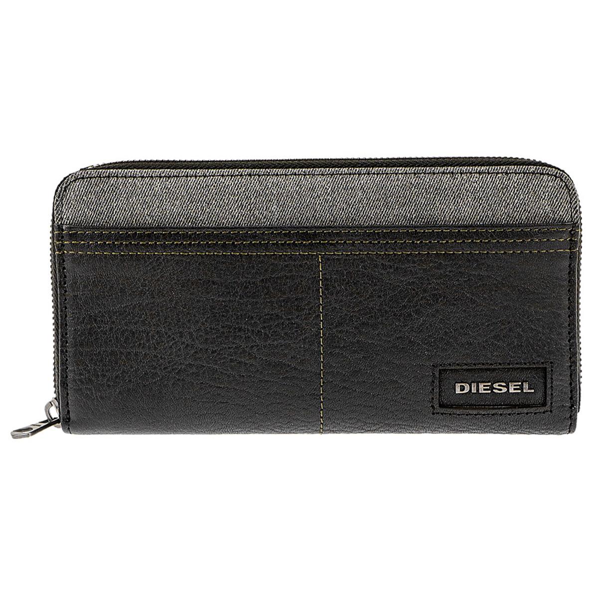 ディーゼル DIESEL 財布 X05573 PR185 H6027 小銭入れ付き ラウンドファスナー 長財布 BLACK ブラック