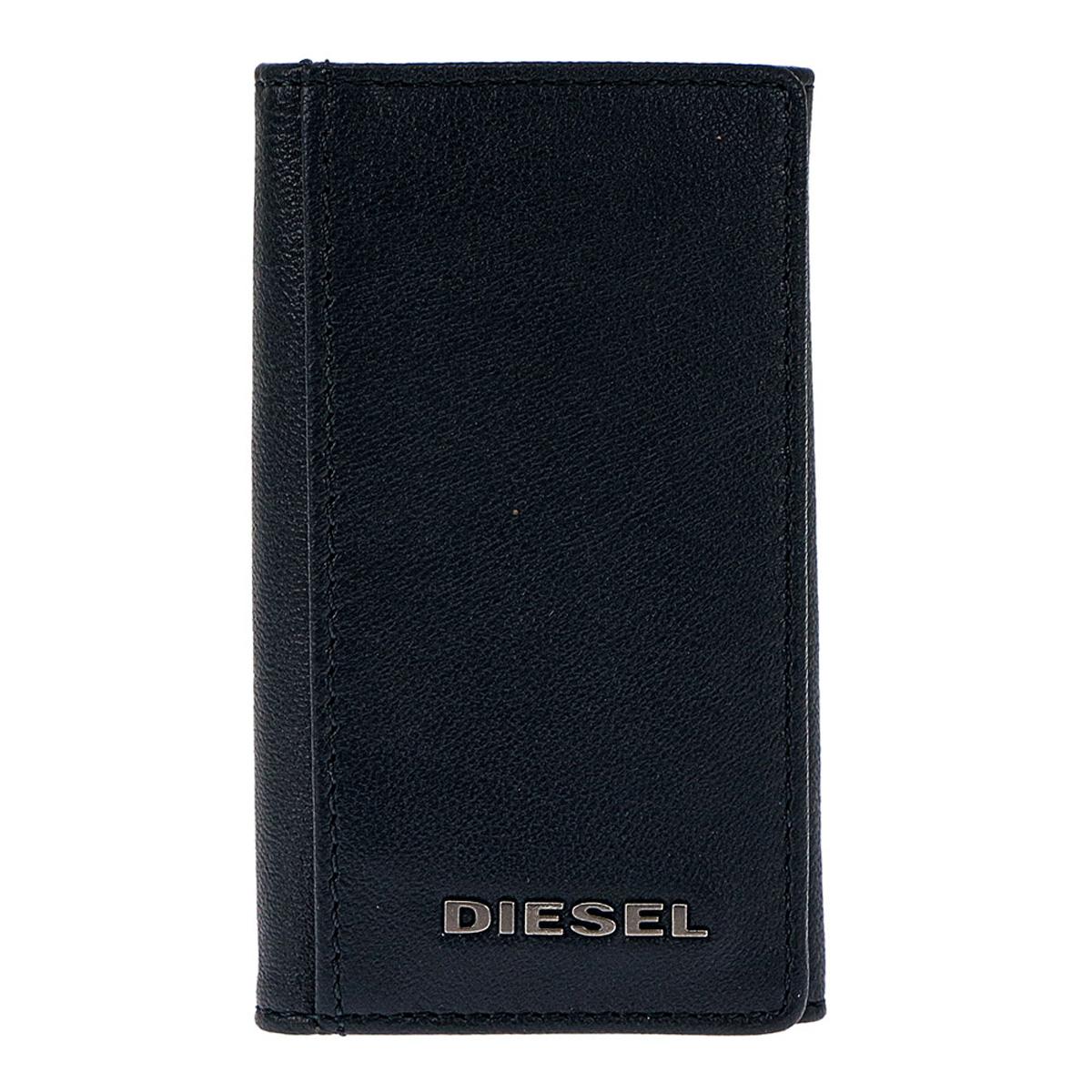ディーゼル DIESEL キーケース X05604 P1752 H6842 KEYCASE O キーリング付 6連キーケース ダークネイビー+オレンジ系