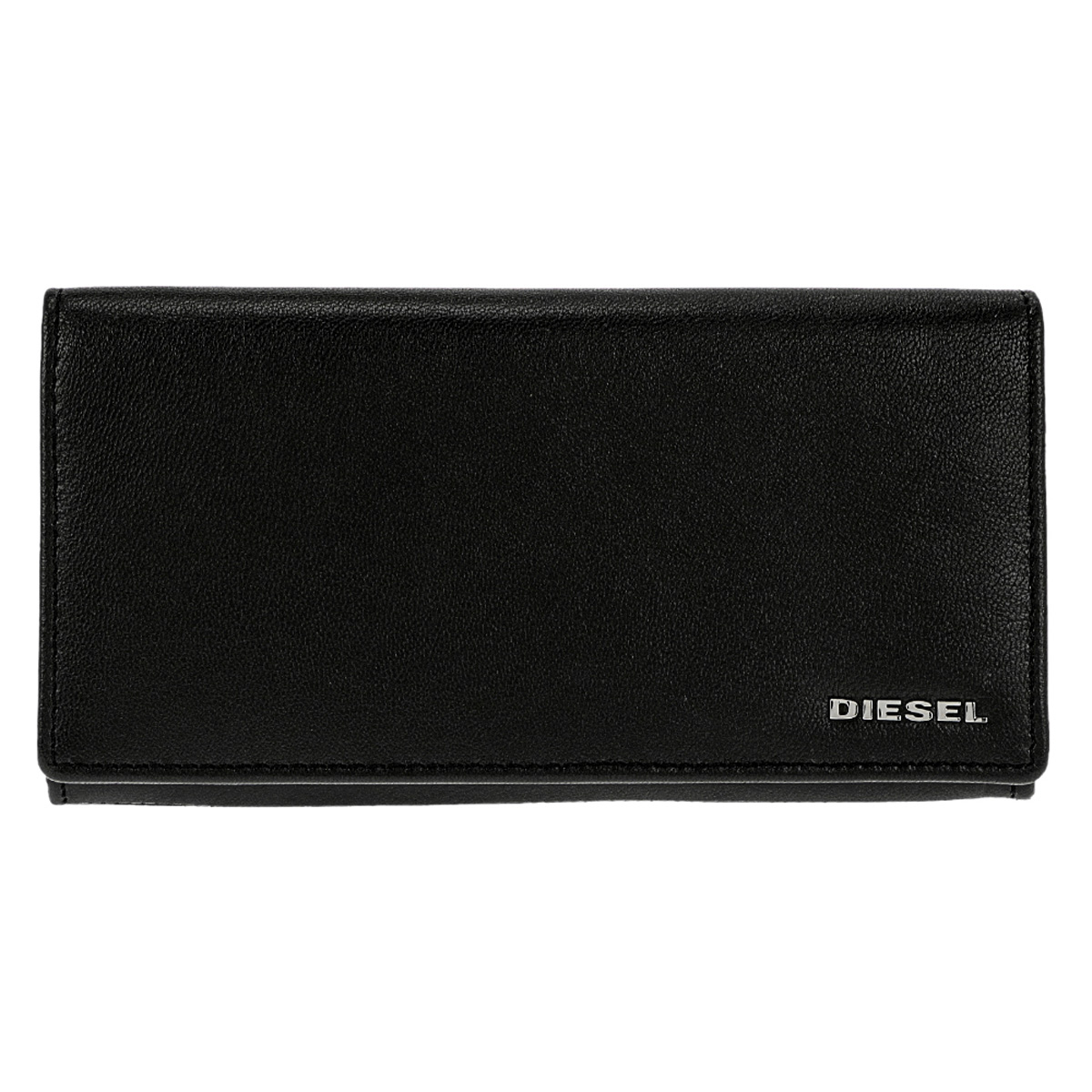 ディーゼル DIESEL 財布 X05660 P1752 H6841 24 A DAY 小銭入れ付き フラップ 長財布 ブラック+イエロー