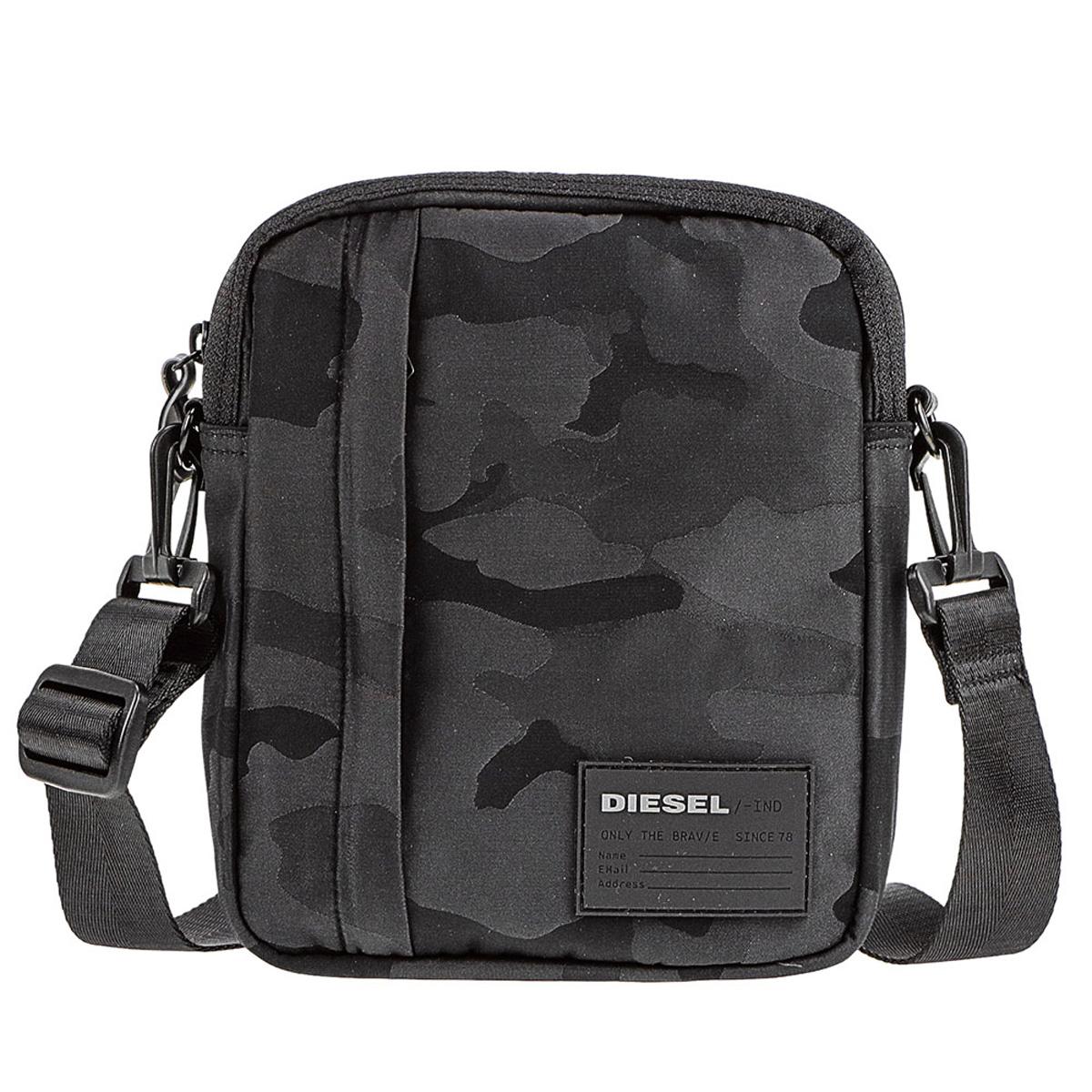 ディーゼル DIESEL バッグ X06266 P2084 T8013 ODERZO ショルダーバッグ 斜めがけバッグ BLACK ブラック+カモフラ柄(迷彩)