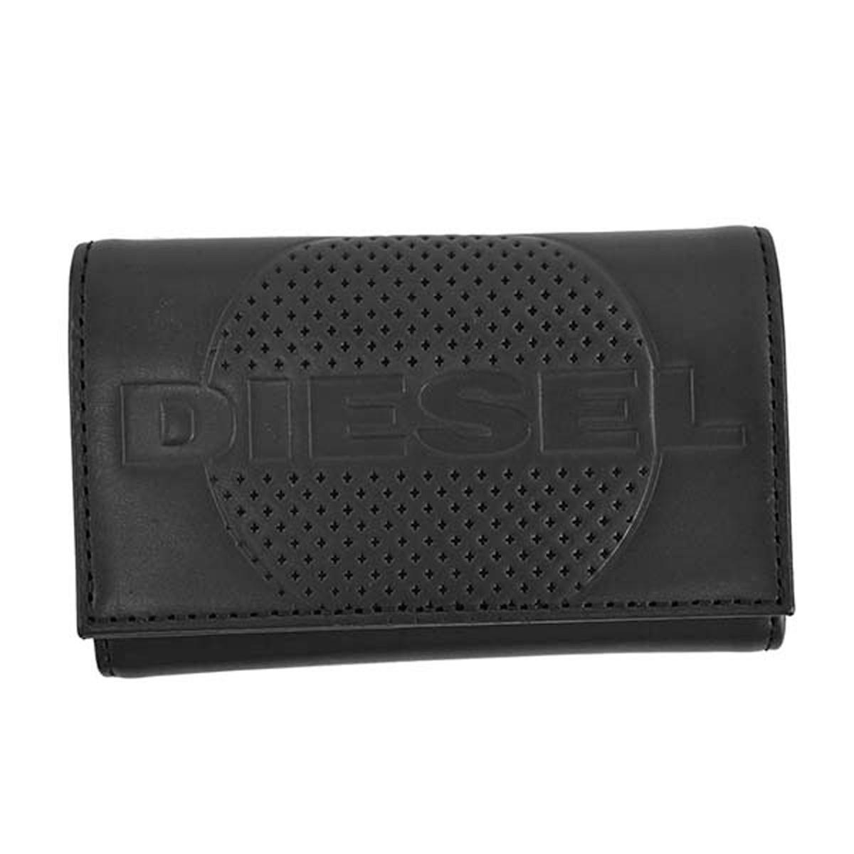 ディーゼル DIESEL キーケース X06654 PR160 T8013 KEYCASE II EMBOGO キーリング付 6連キーケース スマートキー BLACK ブラック