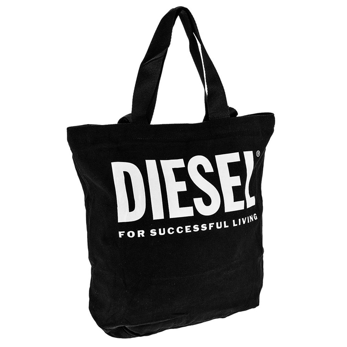 ディーゼル DIESEL バッグ X06659 PR014 T8013 LYVENZA トートバッグ ショルダーバッグ 手提げバッグ BLACK/WHITE ブラック+ホワイト