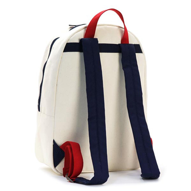 Tommy Hilfiger Backpack Natural Navy Red Canvas White Mens Womens Uni New Brand Stylish