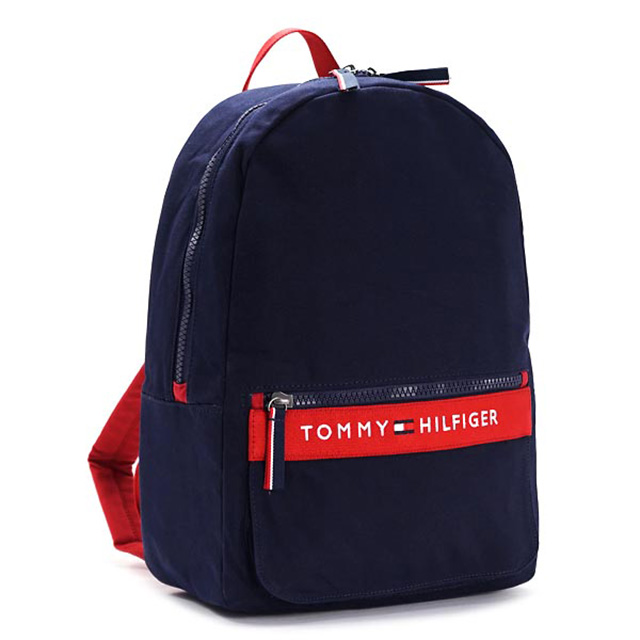 294b6d376e トミー ヒルフィガー TOMMY HILFIGER バックパック リュックサック ネイビー+レッド キャンバス BACKPACK thf-6929787