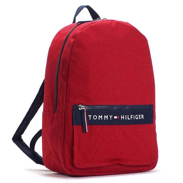 トミー ヒルフィガー Tommy Hilfiger バックパック リュックサック レッド ネイビー キャンバス Backpack Thf 6929787