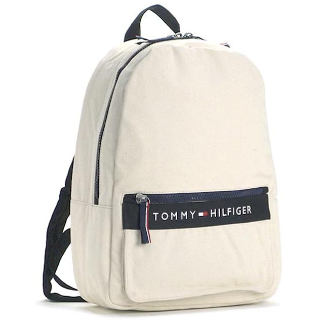 トミー ヒルフィガー Tommy Hilfiger バックパック リュックサック ナチュラル ブラック キャンバス Backpack Thf 6929787