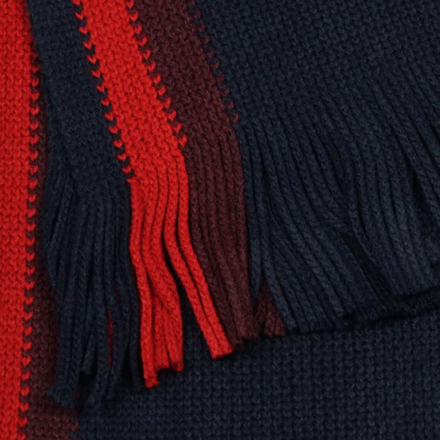 055b87342d164 ... Tommy Tommy Hilfiger TOMMY HILFIGER scarf Dark Navy + red system stripe  acrylic dark blue red ...