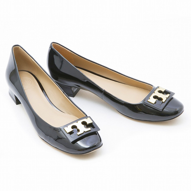 085f0f20e Tolly Birch TORY BURCH 31435 GIGI PUMP low pumps lady line dienamel black  wedge shoes new article gold present Christmas