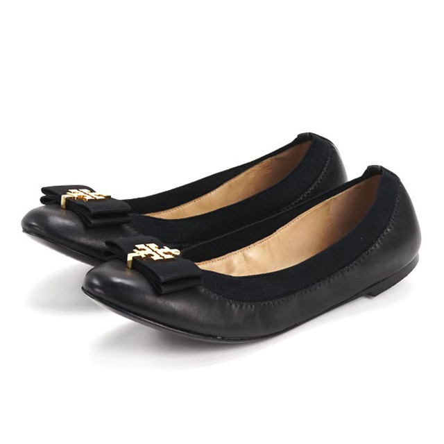 e54750ea3f64 Tolly Birch TORY BURCH 31158535 001 Mayberry ballet flattie MAYBERRY BALLET  Lady s black gold ballet shoes flattie pumps low heel shoes Lady s ribbon  shoes ...