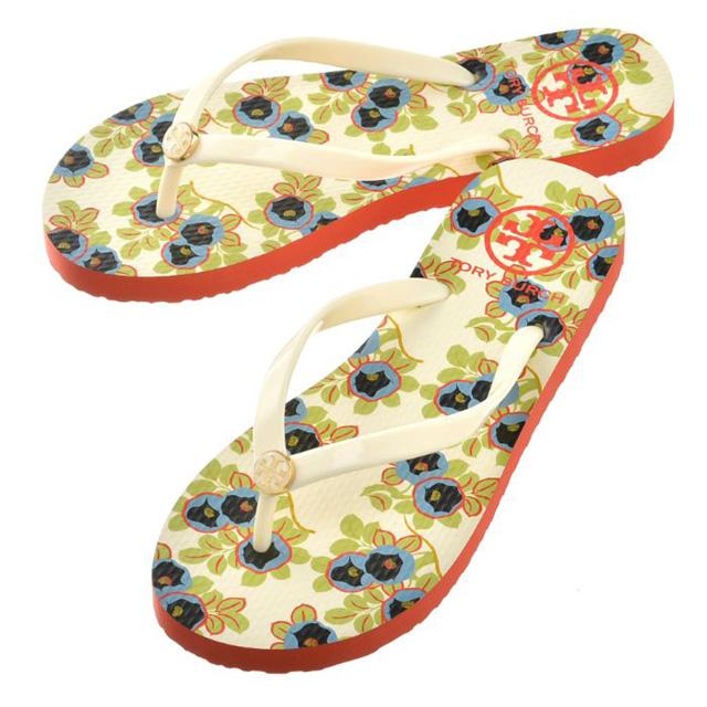 6dea4b8041285b Tolly Birch TORY BURCH sandals 33872 125 CLASSIC FLIP FLOPS SANDAL  メンズレディースアイボリーアヴァロンレッド ...