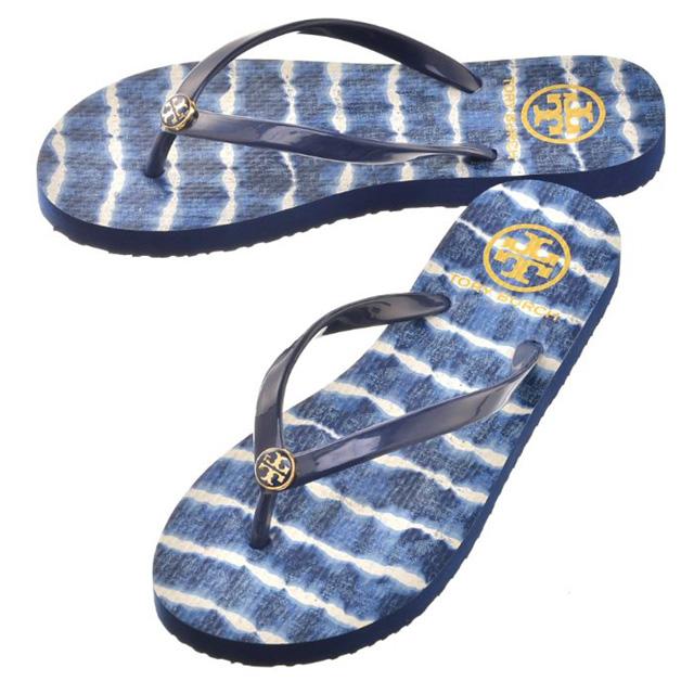 Tolly Birch TORY BURCH sandals 33872 432 CLASSIC FLIP FLOPS SANDAL Lady's  men navy sea beach ...