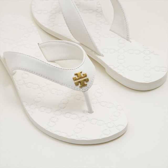 154ce02c0ea Tolly Birch TORY BURCH sandals beach sandal 39670 100 MONROE THONG SANDAL  Monroe song sandals WHITE white