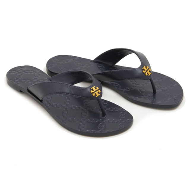a18868777f4 Tolly Birch TORY BURCH sandals beach sandal 39670 403 MONROE THONG Monroe  song sandals NAVY navy