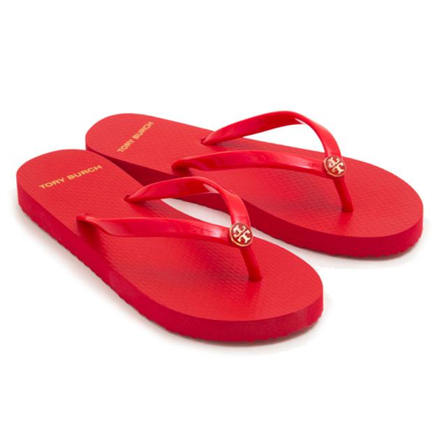 2fbc030a531a Tolly Birch TORY BURCH beach sandal sandals 47405 802 SOLID THIN FLIP FLOP  solid Shin flip-flop POPPY ORANGE red system