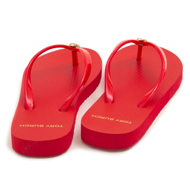 a467a5002d229a Tolly Birch TORY BURCH beach sandal sandals 47405 802 SOLID THIN FLIP FLOP  solid Shin flip-flop POPPY ORANGE red system