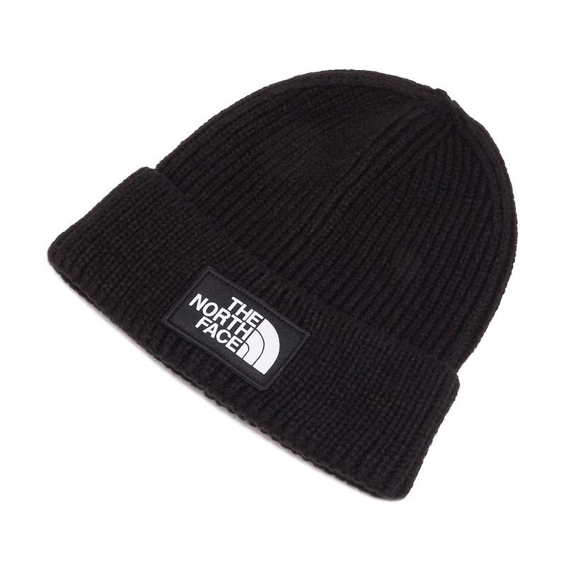 375891106 North Face THE NORTH FACE knit hat knit cap hat men gap Dis NF0A3FJX JK3  LOGO BOX CUFFED BEANIE logo box caph dobby knee TNF Black black