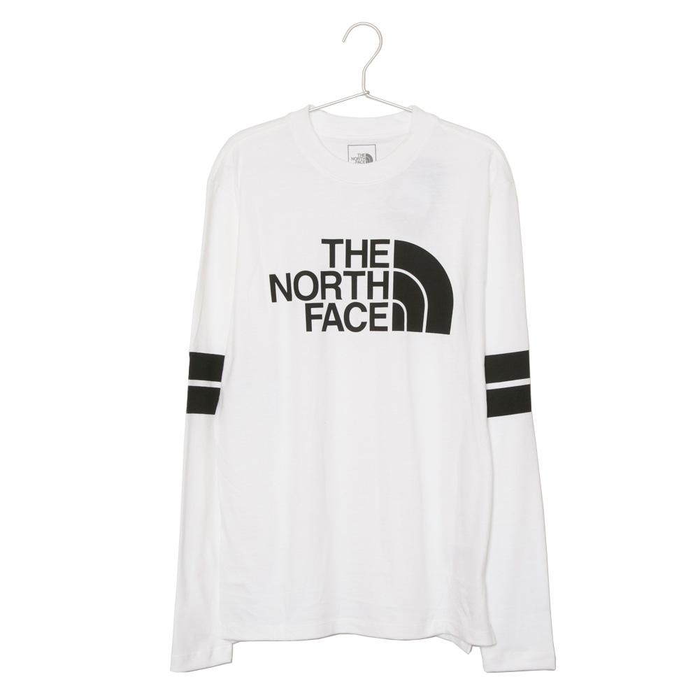 ノースフェイス THE NORTH FACE メンズ 長袖 Tシャツ ロンT NF0A3X5Z LA9 LS COLLEGIATE TEE カレッジエイト ティー TNF WHITE/TNF BLACK ホワイト