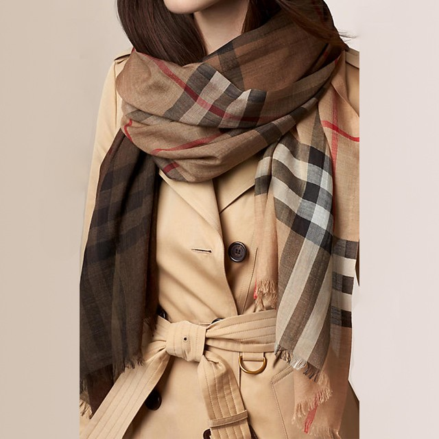 e9fd33b9eda ... discount code for burberry burberry scarf wool silk camel check ladies  men new christmas brand chic