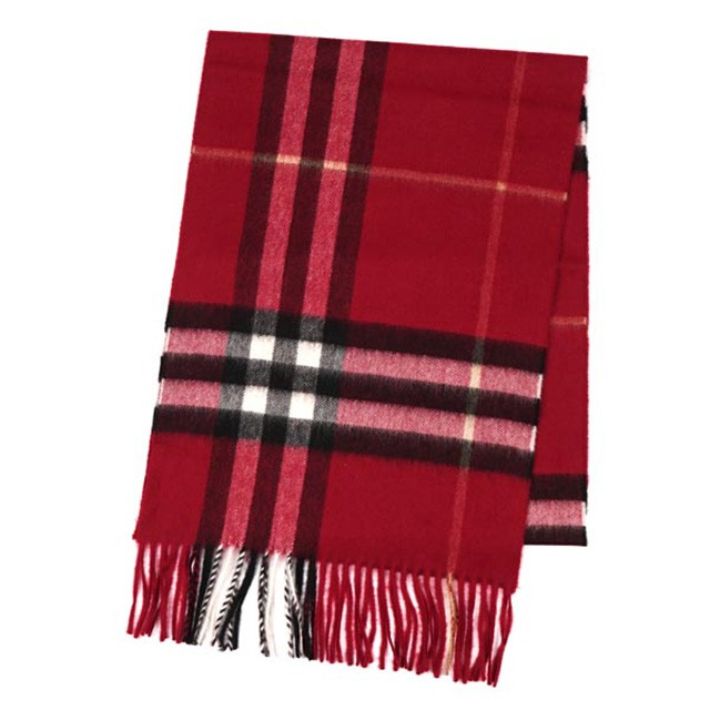 burberry scarf grey red