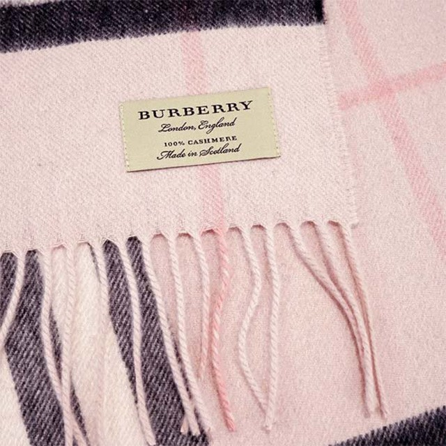 100/% CASHMERE Winter Scarf Gray and Light Pink