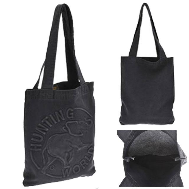ハンティングワールド HUNTING WORLD バッグ ショルダーバッグ トートバッグ メンズ ブランドDENIM TOTE デニム ショルダー ブラック 黒