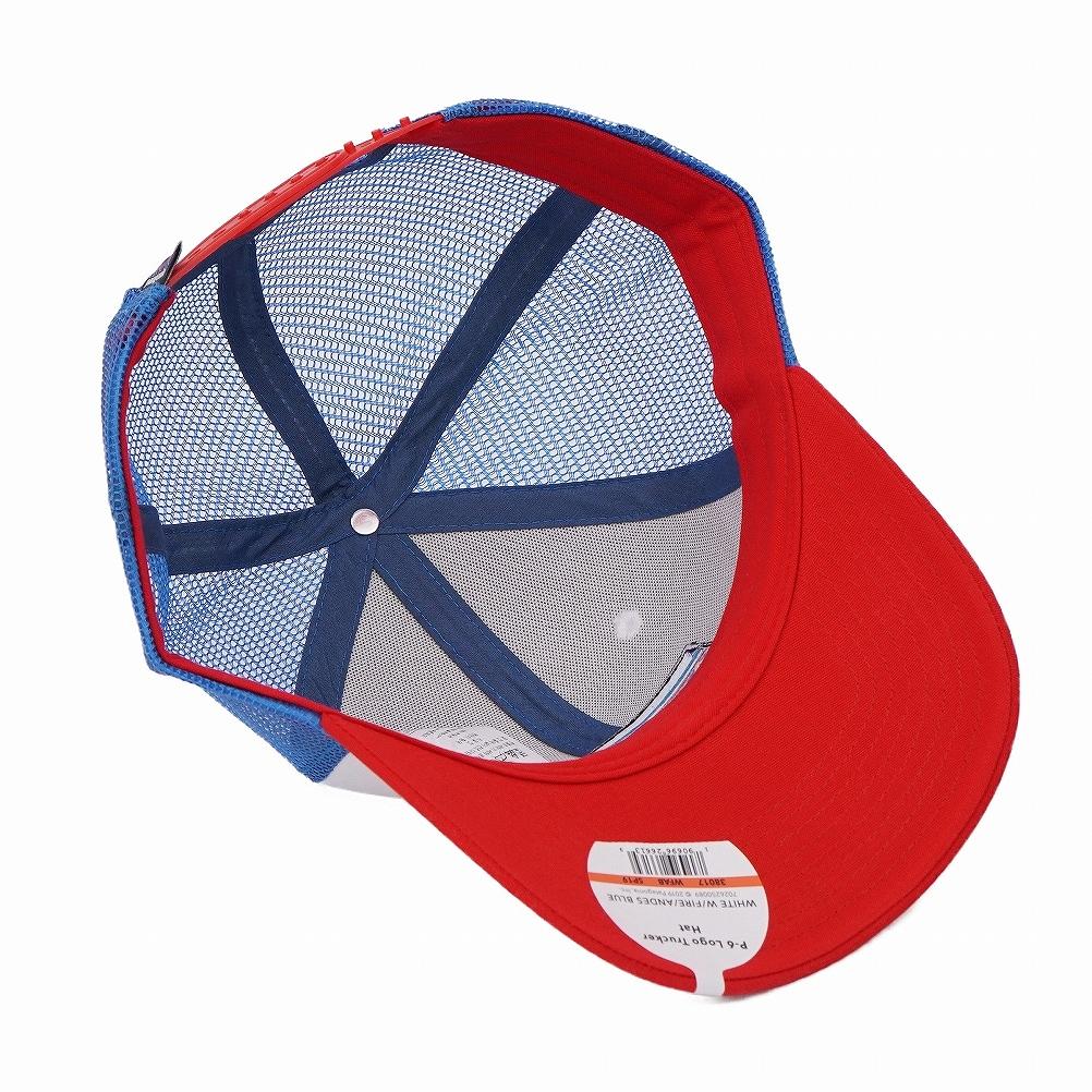 6ac389ec6 Patagonia patagonia mesh cap hat 38017 WFAB P-6 Logo Trucker Hat P6 logo  trucker hat WHITE W/FIRE/ANDES BLUE white + red + ブルーマルチ