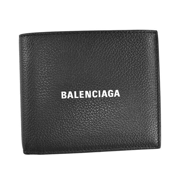 バレンシアガ BALENCIAGA メンズ 財布 二つ折り財布 折りたたみ財布 594315 1IZ43 1090 CASH SQUARE WAL COIN キャッシュスクエアウォレットコイン BLACK ブラック