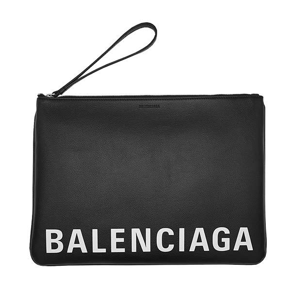 バレンシアガ BALENCIAGA バッグ ポーチ クラッチバッグ ビッグポーチ 594350 1IZCM 1090 CASH HANDLE POUCH L メンズ レディース BLACK ブラック