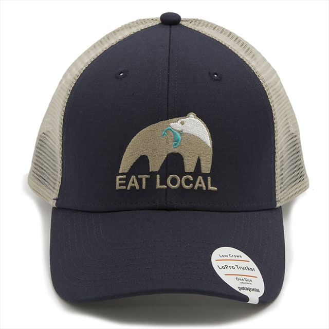 e8f032fed Patagonia patagonia cap hat 38180 NVYB EAT LOCAL UPSTREAM LOPRO TRUCKER HAT  eat local up stream ...