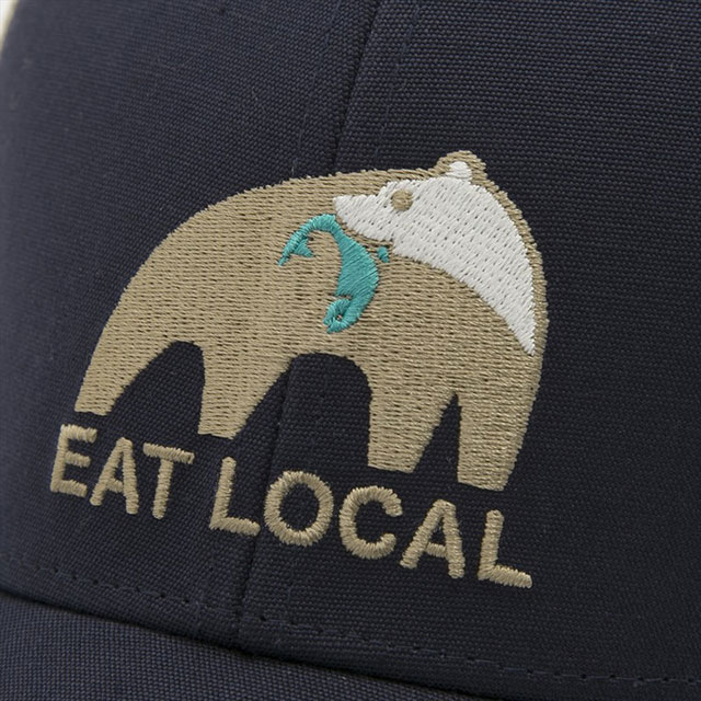 f0e21d0b324 Patagonia patagonia cap hat 38180 NVYB EAT LOCAL UPSTREAM LOPRO TRUCKER HAT  eat local up stream low pro trucker hat navy + beige