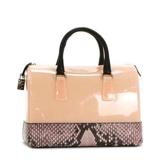 Furla Handbags Boston Bag Candy Satchel Orange Las Summer Brand Python Fs2gm