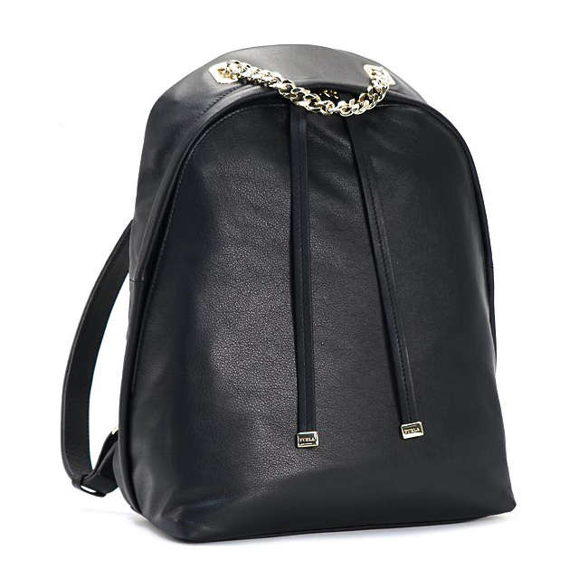 39ceced5fbae FURLA FURLA backpack new black leather bags women's brand new brand gold  chain leather regular backpack daypack fashionable commuter school birthday  ...