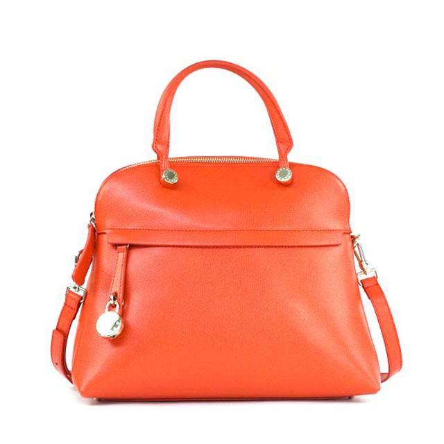 Furla Bag Bfk9 Piper M Dome Medium 2 Way Also Shoulder Handbag 825434 Orange Leather Brand New Unused Gifts S Birthday