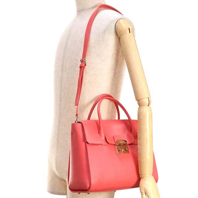 3acb4550d5d3 FURLA FURLA bag BGJ4 METROPOLIS M SATCHEL metropolis medium satchel 2way  also shoulder handbag 808322 pink leather brand new unused gifts girls  birthday