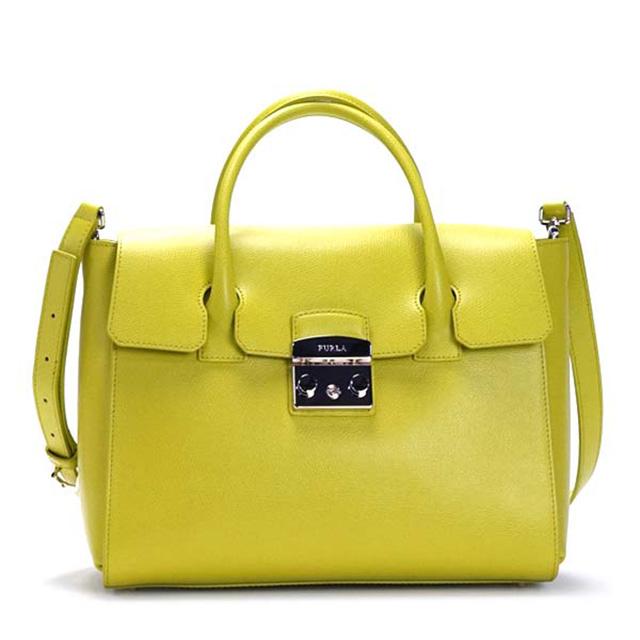 Furla Bag Satchel Bgj4 Metropolis M Medium 2way Also Shoulder Handbag 808324 Lime Leather Brand New Unused Gift Women Birthday