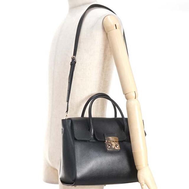 10a2f8bf11fc FURLA FURLA bag BGJ4 METROPOLIS M SATCHEL metropolis medium satchel 2way  also shoulder handbag 808326 black leather brand new unused gifts girls  birthday