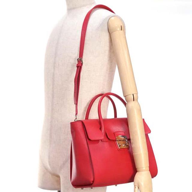 bfaaee9ec608 FURLA FURLA bag SATCHEL BGJ4 METROPOLIS M metropolis medium satchel 2way  also shoulder handbag 808349 Ruby leather brand new unused gift women  birthday